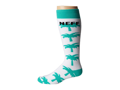 Neff - Palms Galore Snow Sock (White) Men's Knee High Socks Shoes