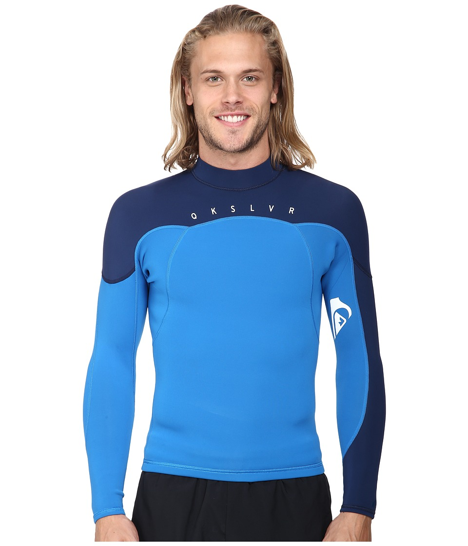 Quiksilver - Syncro 1.5mm Long Sleeve Jacket (Blue/Navy) Men's Swimwear