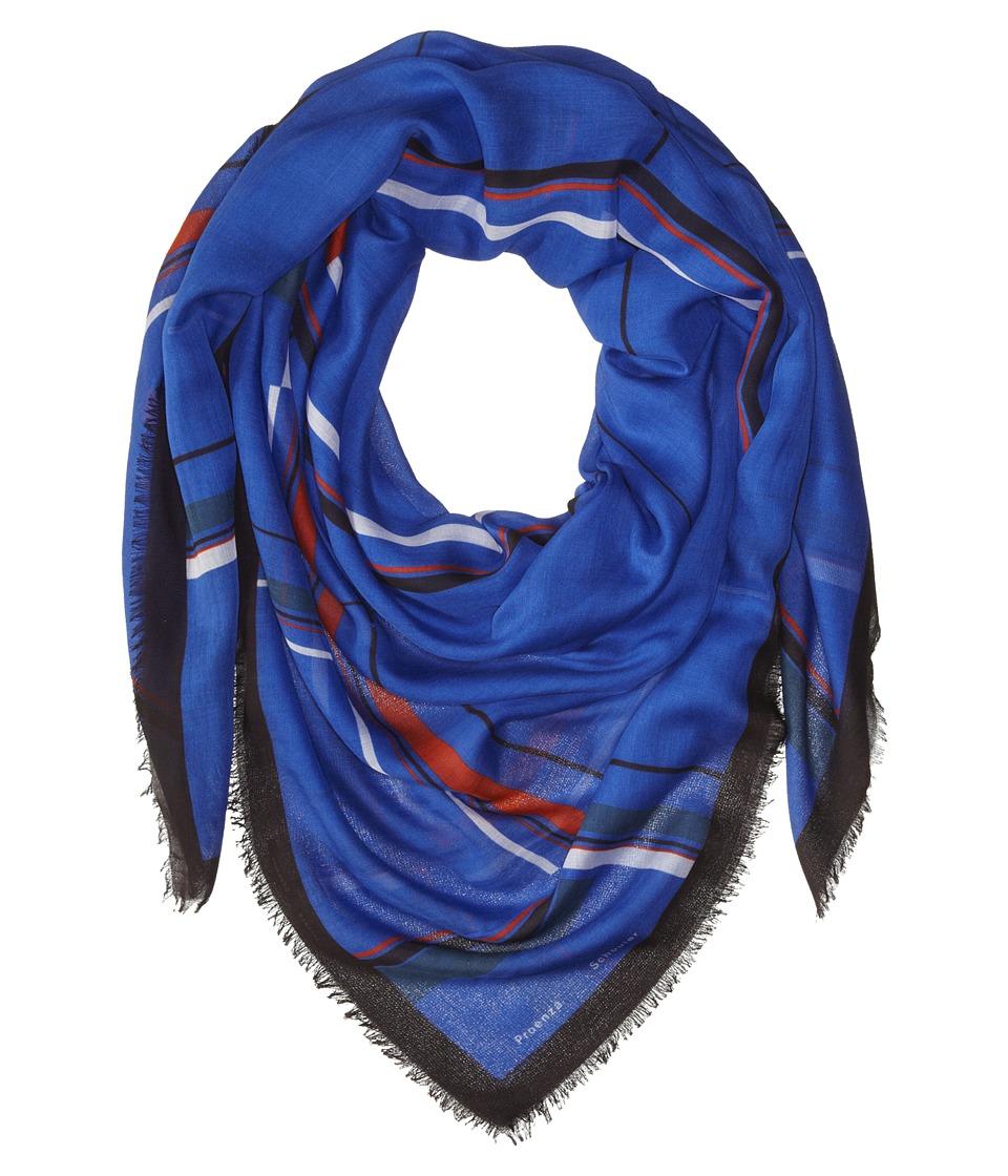 Proenza Schouler - F00140 BSP102 - Grid Print (Cobalt/Orange/White) Scarves
