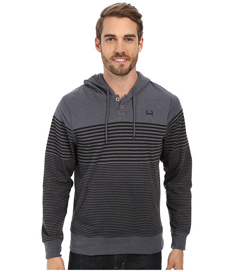 Cinch - Henley Placket Jersey Pullover (Grey) Men's Clothing