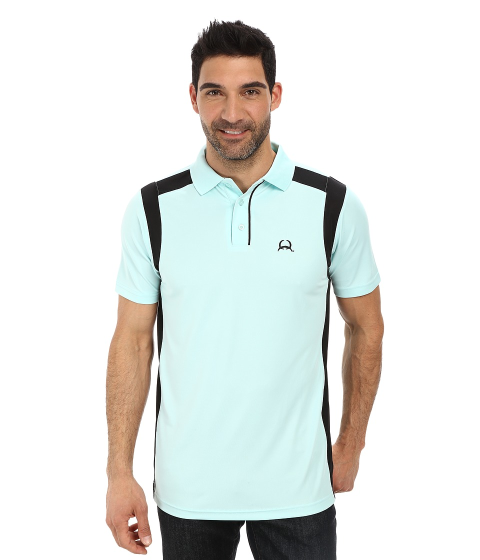 Cinch - Athletic Technical Polo (Aqua) Men's Clothing