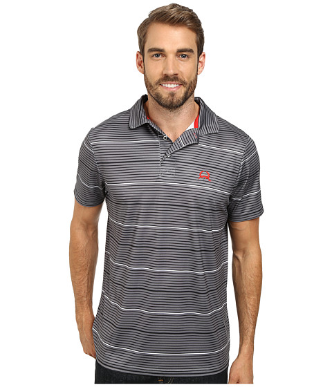 Cinch - Athletic Poly Spandex Tech Polo Striped (Grey) Men