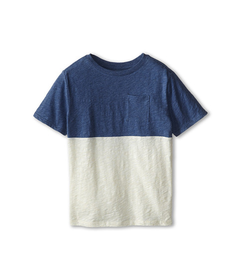 Vince Kids - Slub Color Blocked Pocket Tee (Big Kids) (Heather Bayou Blue) Boy
