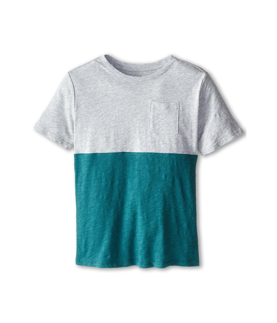 Vince Kids - Slub Color Blocked Pocket Tee (Big Kids) (Heather Steel) Boy's T Shirt