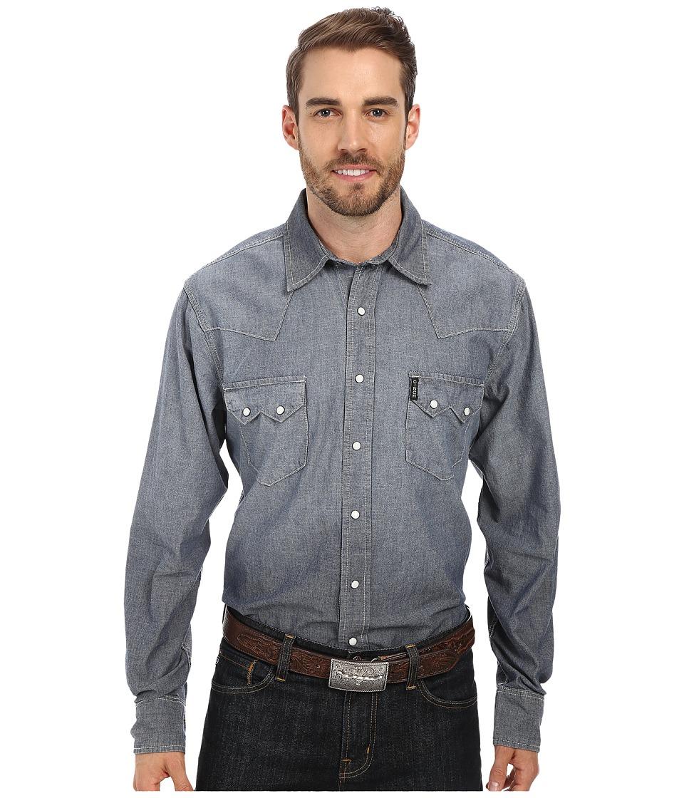 Cinch - Slim Fit Denim (Indigo) Men's Long Sleeve Button Up