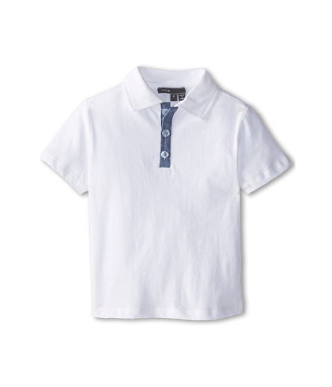 Vince Kids - Jersey Polo (Toddler/Little Kids) (White) Boy