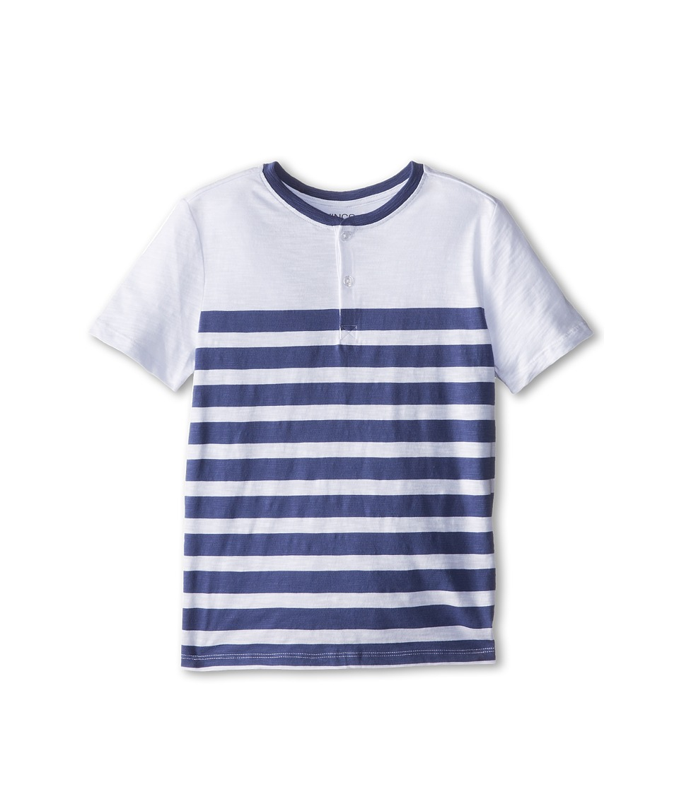 Vince Kids - Slub Striped Henley (Big Kids) (Blue Moon Stripe) Boy