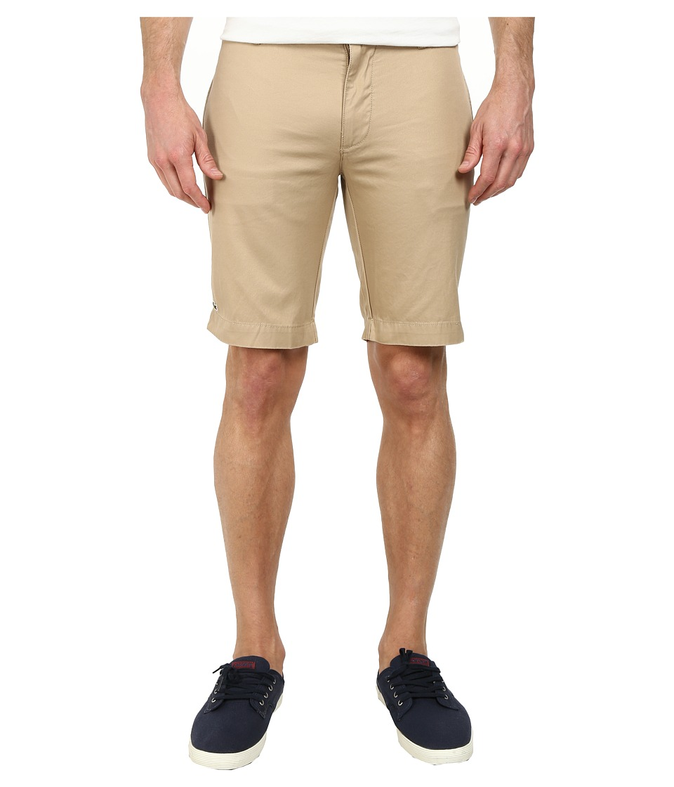 Lacoste - Slim Fit Bermuda Short (Light Macaroon Brown) Men's Shorts