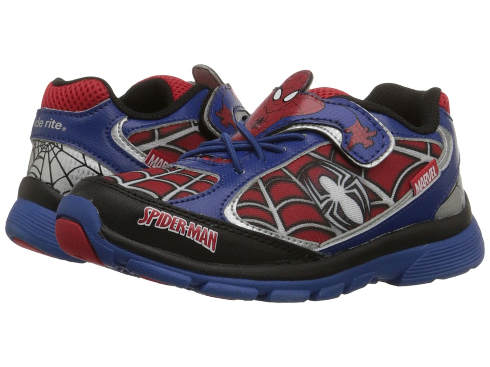 Stride Rite - Spider-Man Lighted (Little Kid) (Blue/Red) Boys Shoes