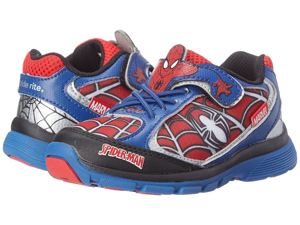 Stride Rite - Spider-Man Lighted (Toddler/Little Kid) (Blue/Red) Boys Shoes
