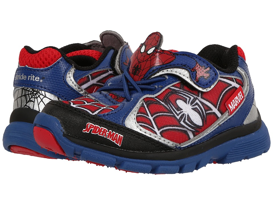 Stride Rite - Spider-Man Lighted (Toddler) (Blue/Red) Boys Shoes