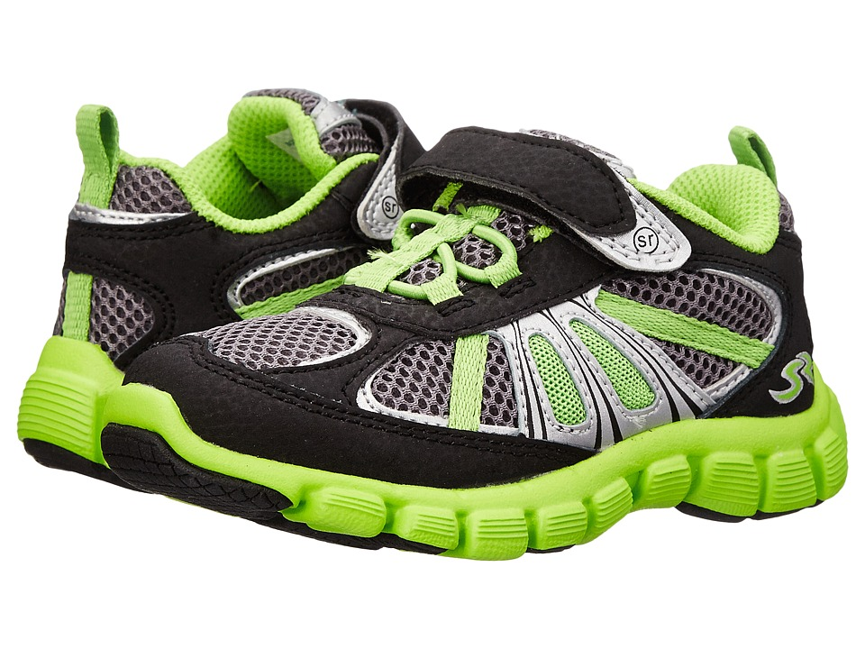 Stride Rite - Propel 2 A/C (Toddler) (Black/Grey/Green) Boy's Shoes