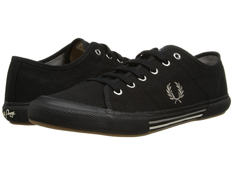 Fred Perry - Vintage Tennis Canvas (Black 2) Men's Lace up casual Shoes
