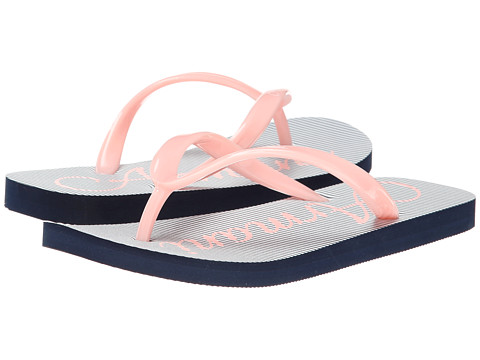 Armani Junior - Pink/Navy Stripe Flip Flop (Little Kid/Big Kid) (Pink) Girls Shoes