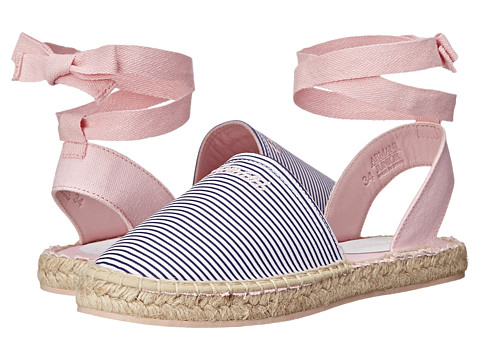 Armani Junior - Espadrille in Pink w/ Navy Stripe (Little Kid) (Pink) Girls Shoes
