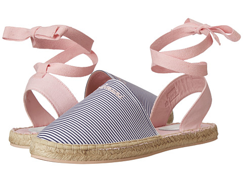 Armani Junior - Espadrille in Pink w/ Navy Stripe (Big Kid) (Pink) Girls Shoes