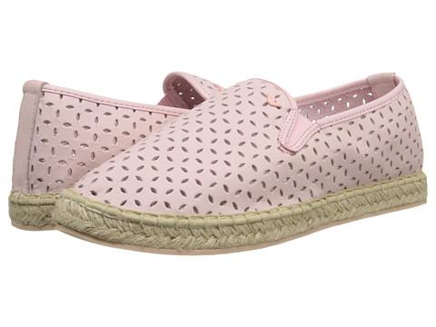Armani Junior - Pink Slip-On Leather Flat w/ Laser Cut Detail (Big Kid) (Pink) Girls Shoes