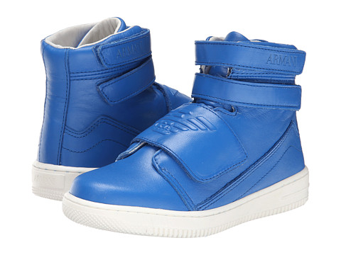 Armani Junior - Velcro High Top in Royal Blue (Little Kid/Big Kid) (Blue) Boys Shoes