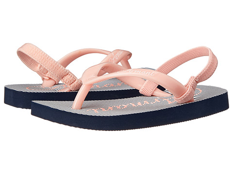 Armani Junior - Pink/Navy Stripe Flip Flop (Toddler/Little Kid) (Pink) Girls Shoes