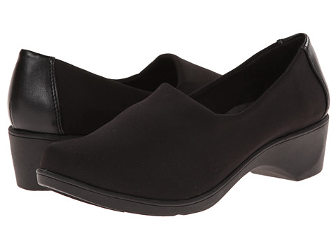 Soft Style - Karsen (Black Fabric) Women's Slip on Shoes