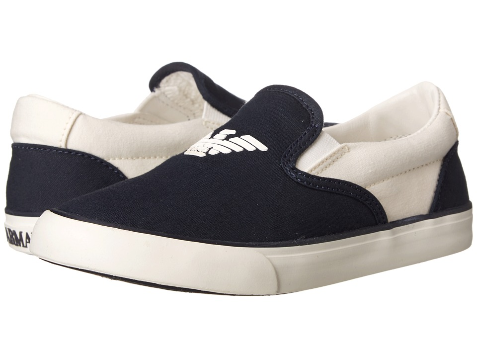 Armani Junior - Navy Slip-On Sneaker (Toddler/Little Kid) (Indigo) Boys Shoes