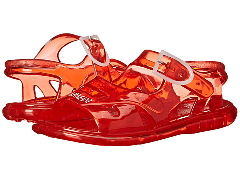 Armani Junior - Jelly Sandal in Red (Infant/Toddler) (Red) Boys Shoes