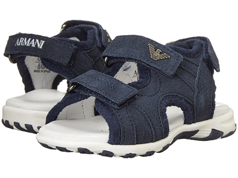 Armani Junior - Velcro Sandal in Navy (Infant/Toddler) (Indigo) Boys Shoes