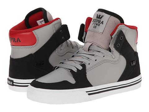 Supra Kids - Vaider (Little Kid/Big Kid) (Black Nubuck) Boys Shoes