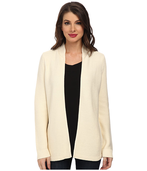 Jones New York - L/S Novelty Stretch Long Cardigan (Cr me) Women's Sweater