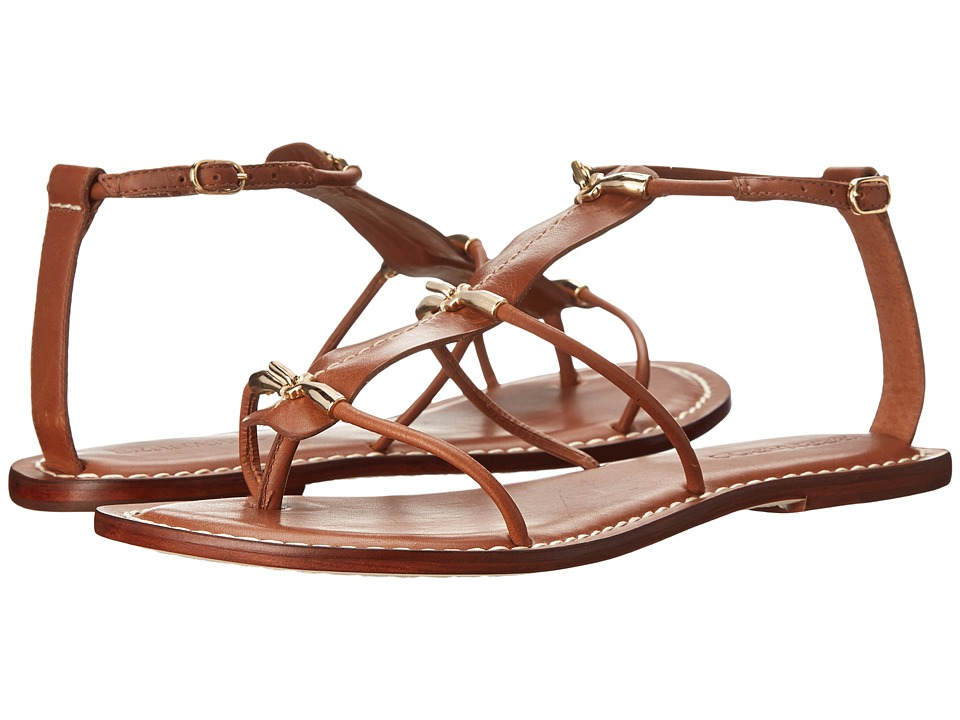 Bernardo - Melanie (Luggage Calf/Gold) Women's Sandals