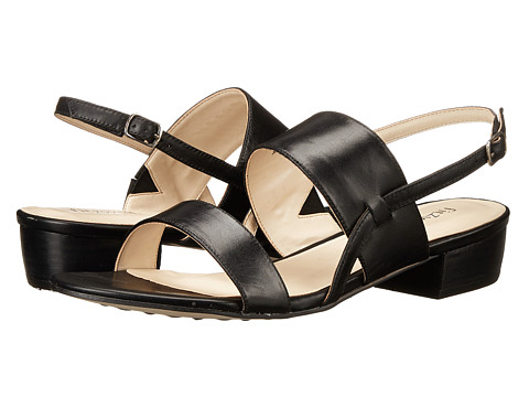 Fitzwell - Most (Black Burnished Leather) Women's Sandals