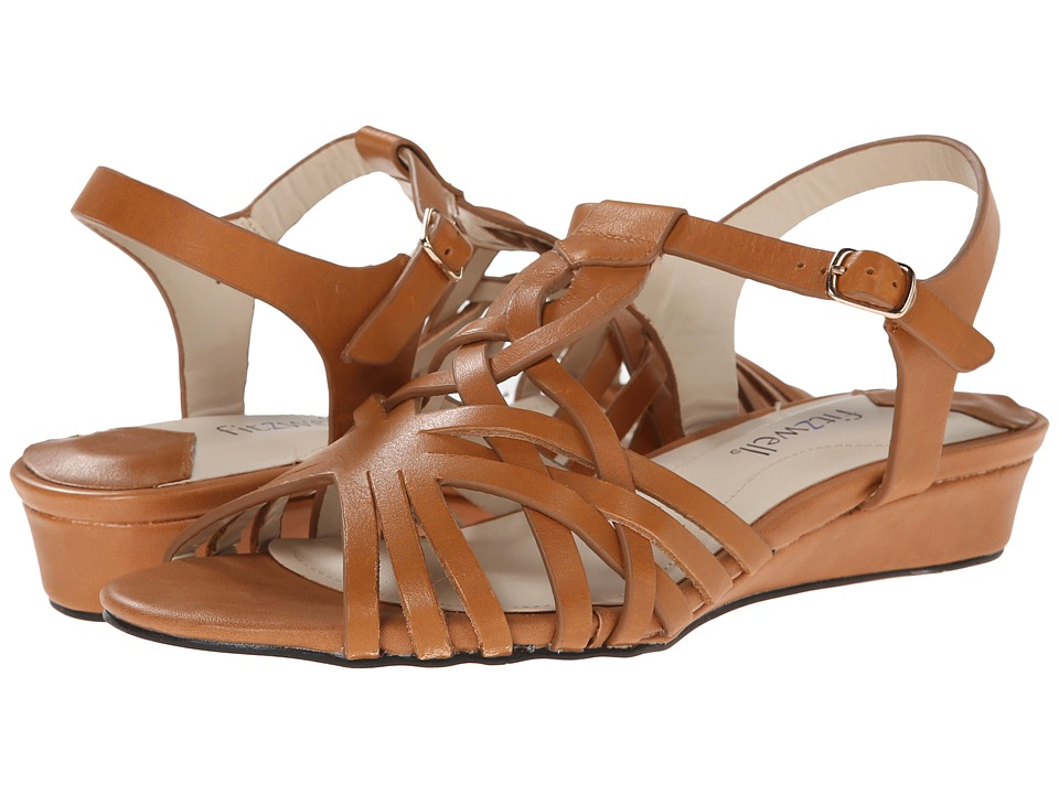 Fitzwell - Presley (Luggage Burnished Leather) Women's Sandals