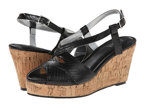 Fitzwell - Caitlyn (Black Patent Snake) Women's Sandals