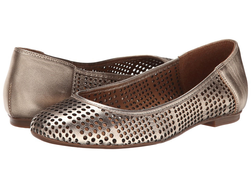 French Sole - Naru (Platino Metallic Leather) Women's Flat Shoes