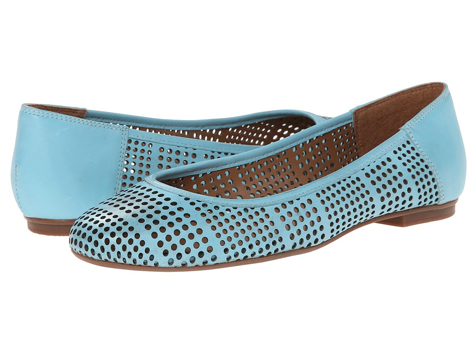 French Sole - Naru (Light Blue Leather) Women's Flat Shoes