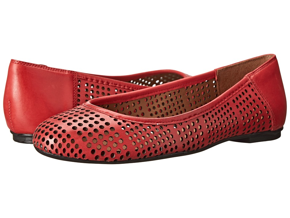 French Sole - Naru (Red Leather) Women's Flat Shoes