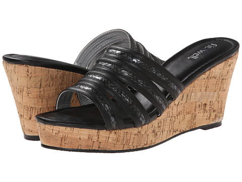 Fitzwell - Carmelina (Black Snake / Smooth) Women's Sandals