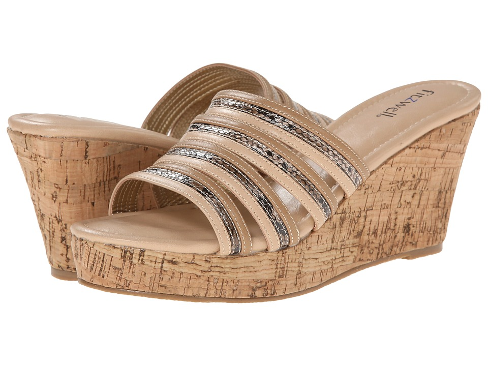 Fitzwell - Carmelina (Natural Snake / Smooth) Women's Sandals