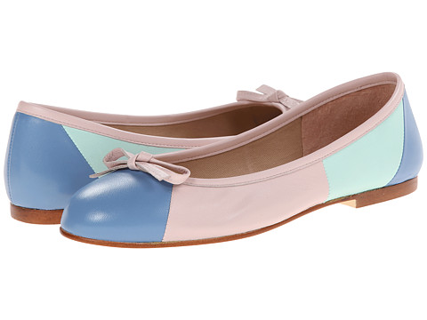 French Sole - Neptune (Wedgewood/Aqua/Pale Pink Nappa) Women