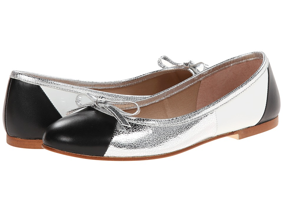 French Sole - Neptune (Black Nappa/Silver/White Patent) Women