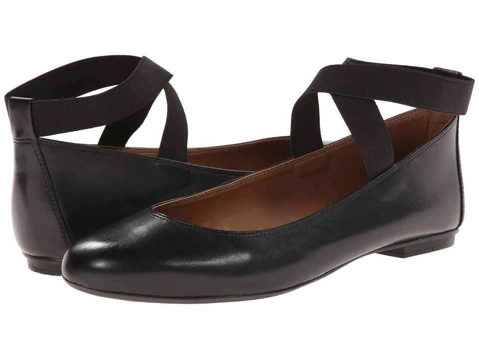 French Sole - Natty (Black Calf) Women's Flat Shoes