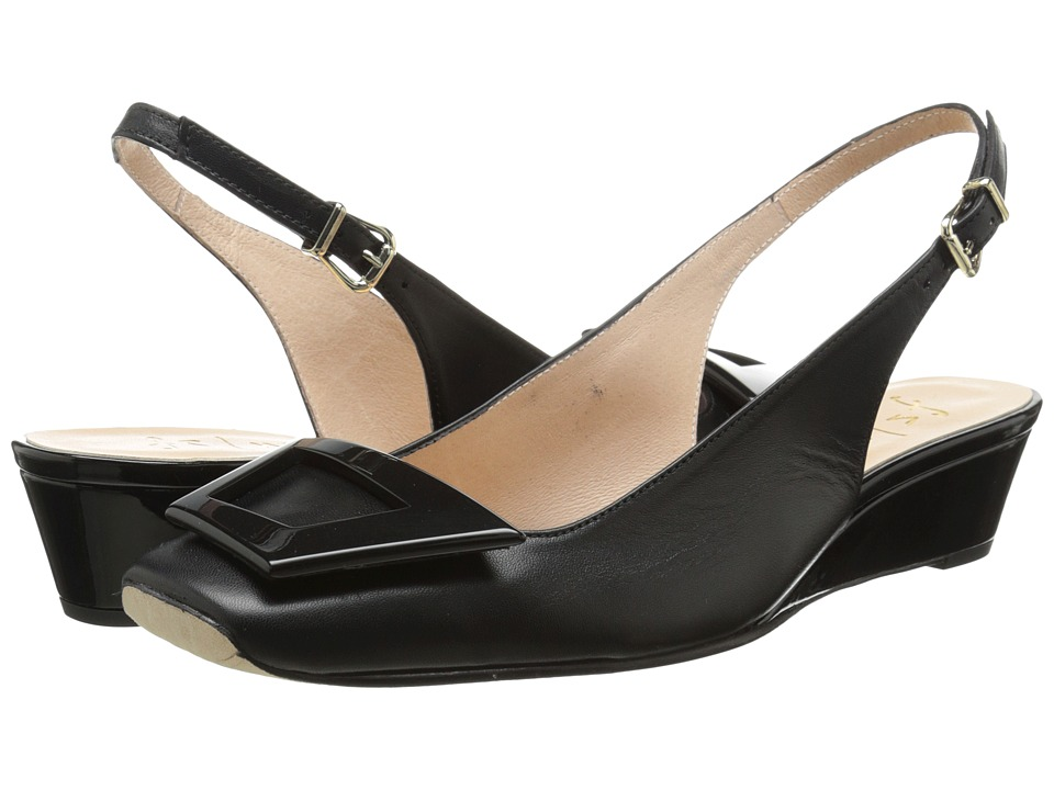 French Sole - Noter (Black Nappa) Women's Flat Shoes