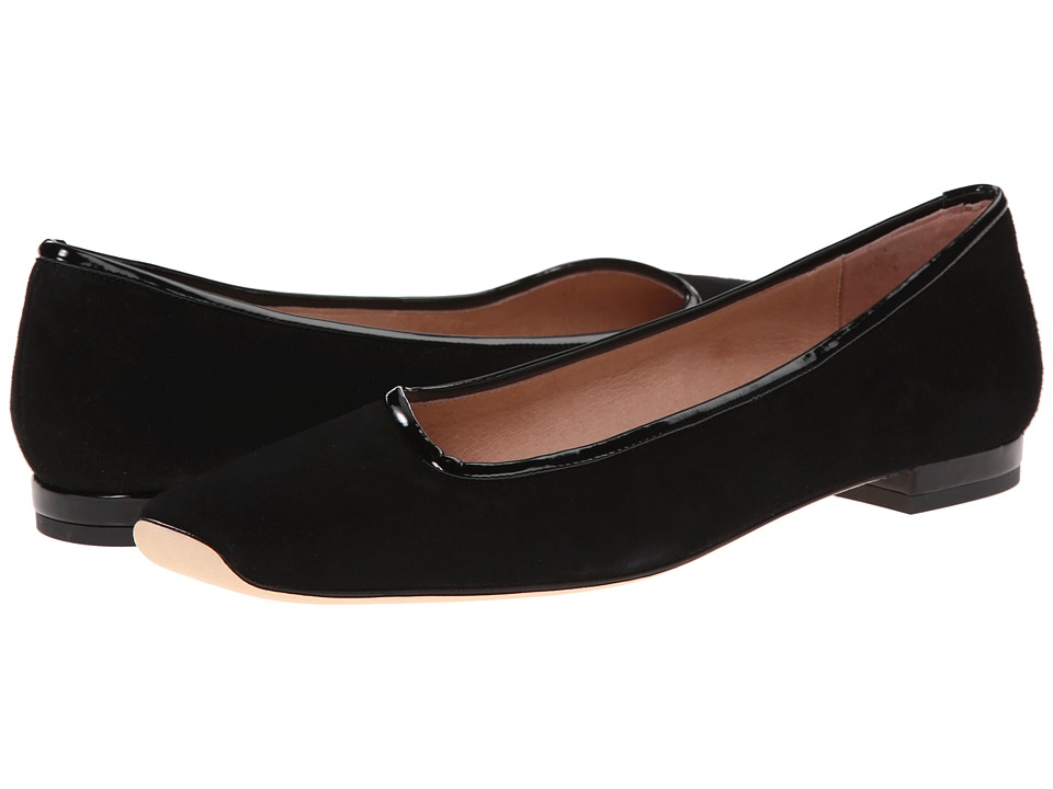 French Sole - Nod (Black Suede) Women's Flat Shoes