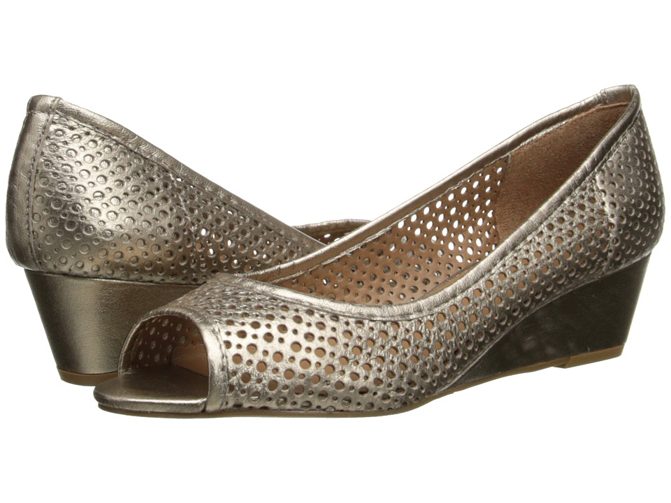 French Sole - Necessary (Platino Metallic Leather) Women's Flat Shoes