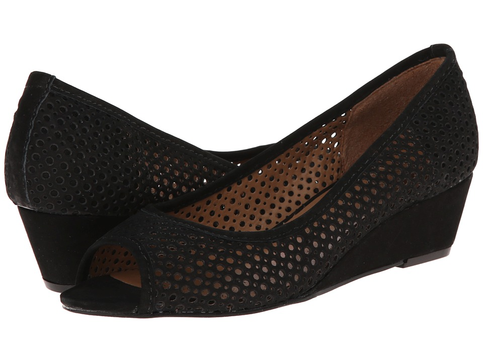 French Sole - Necessary (Black Nubuck) Women's Flat Shoes