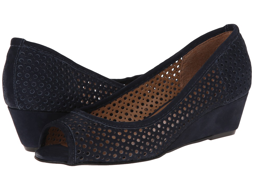 French Sole - Necessary (Navy Nubuck) Women's Flat Shoes