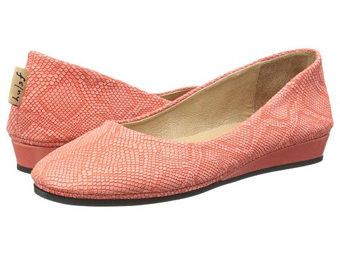French Sole - Zeppa (Coral Lizard Emboss) Women's Slip on Shoes