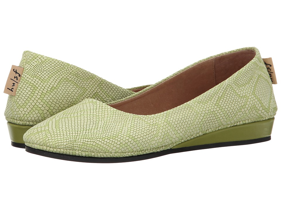 French Sole - Zeppa (Lime Lizard Emboss) Women's Slip on Shoes