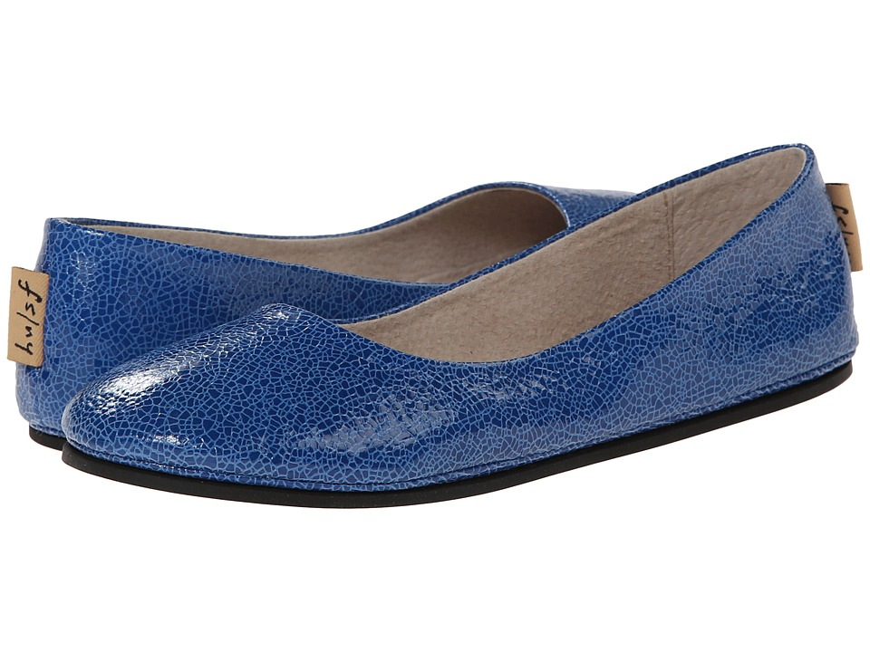 French Sole - Sloop (Cobalt Small Crackle) Women's Flat Shoes