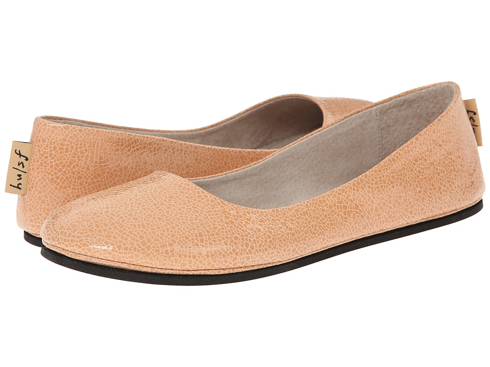 French Sole - Sloop (Nude Small Crackle) Women's Flat Shoes